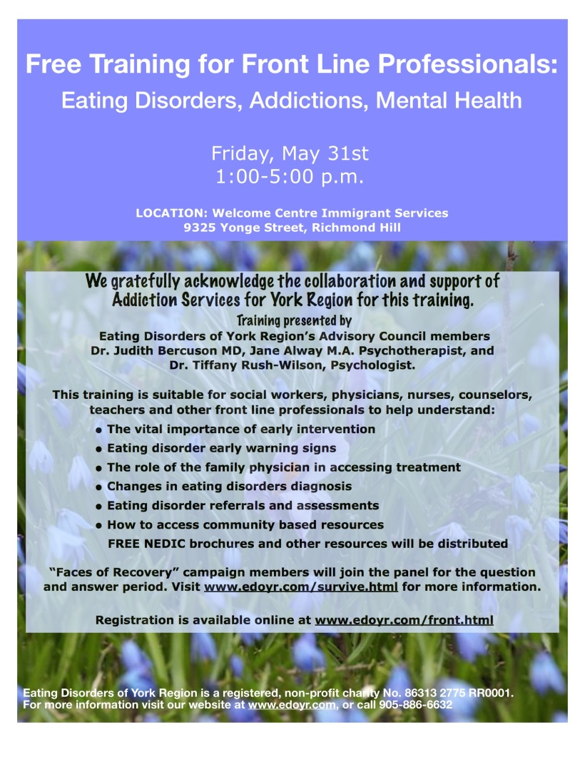 Eating Disorders and Addictions Training 2013