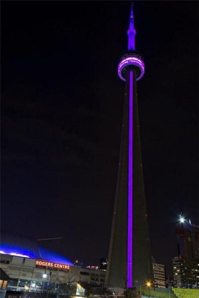 cn tower purple