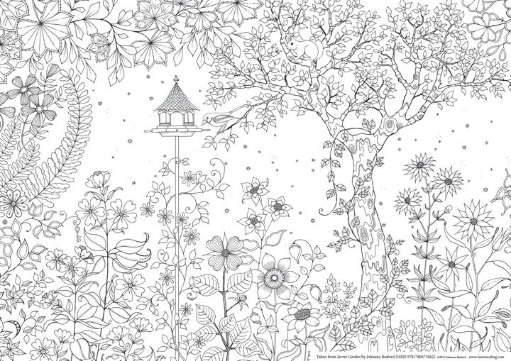A Printable Colouring Page From Secret Garden By Johanna Basford